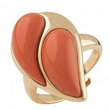 Серебряное кольцо Магдала с красным кораллом