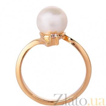 Золотое кольцо с жемчугом Анелия 3522230