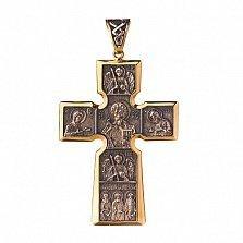Серебряный крест с позолотой и чернением Небесная радость