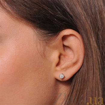 Золотые серьги с бриллиантами Гликерия EDM--С7452G