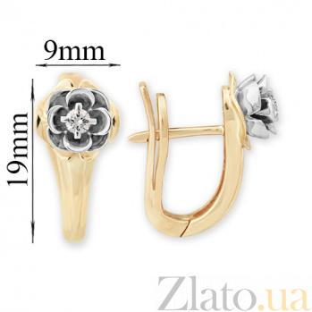 Золотые серьги с бриллиантами Мальвы VLA--26460