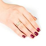 Золотое обручальное кольцо Осенние чувства
