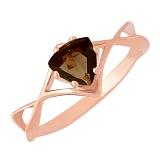 Золотое кольцо с раухтопазом Филадельфия