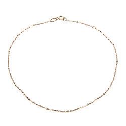 Золотой браслет на ногу Гаррата в комбинированном цвете, 1мм
