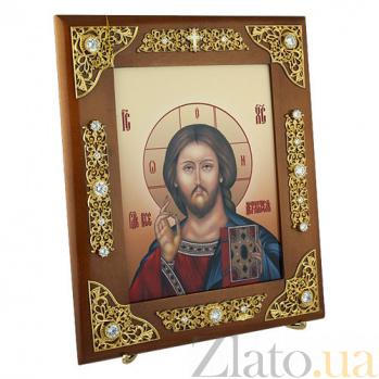 Серебряная венчальная икона Господь Вседержитель 2.77.0134п