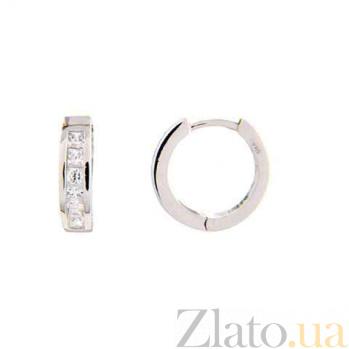 Серебряные серьги кольцами AQA--TE-1016