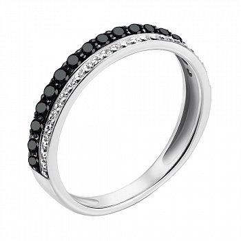 Кольцо из белого золота с бриллиантами 000146830