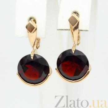 Сережки из красного золота с гранатами Клэр VLN--113-1301-3