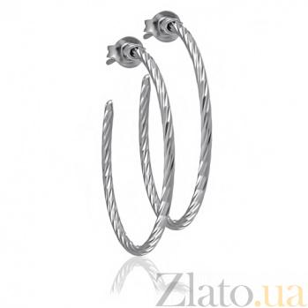 Сережки из серебра Галатея 10030173