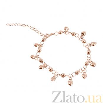 Серебряный браслет с позолотой Сюзанна 000025873