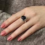 Серебряное кольцо Марбл с авантюрином