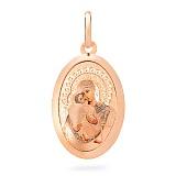 Золотая ладанка Пресвятая Богородица Владимирская