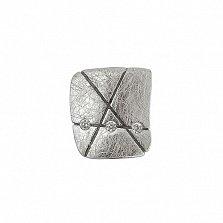 Серебряная серьга-пуссета с цирконием Интрига