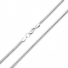 Серебряная цепочка Шарм с родированием, 2мм