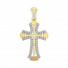 Золотой крестик Вера с бриллиантами