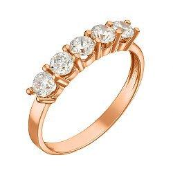 Кольцо в красном золоте с фианитами 000055047