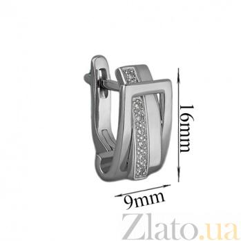 Серебряные серьги с бриллиантами Амели 79200399