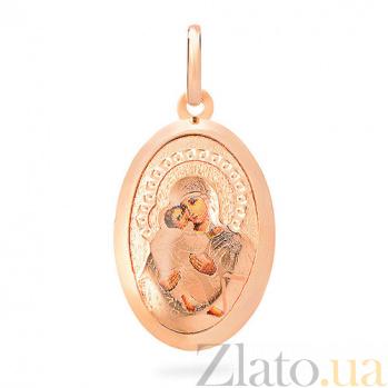 Золотая ладанка Пресвятая Богородица Владимирская SUF--421115В
