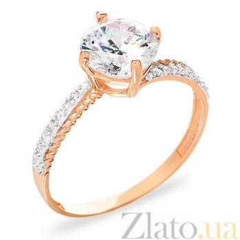 Золотое кольцо с фианитами Престиж SUF--153146