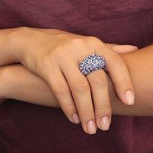 Серебряное кольцо Аделлина с разноцветными фианитами