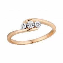 Кольцо из золота с бриллиантами Грейс