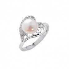 Серебряное кольцо Tenerezza с жемчугом