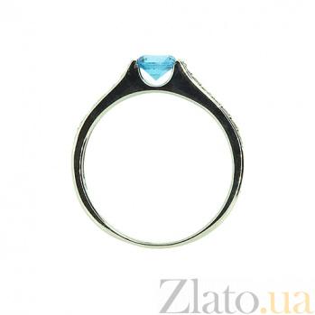 Золотое кольцо с топазом и бриллиантами Аэлита ZMX--RT-6567w_K