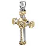 Крестик из золота Итака с бриллиантами