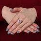 Серебряное кольцо с аметистом и фианитами Янина 1596/9р аметист