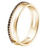 Кольцо в желтом золоте Мария с фианитами
