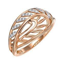 Кольцо из красного золота с фианитами 000150342