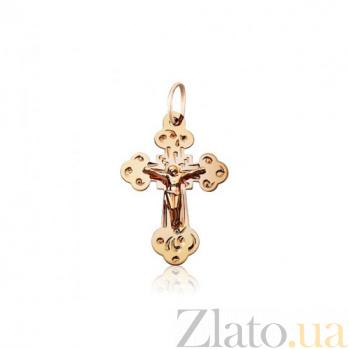 Крестик из красного золота Божья помощь EDM--КР060