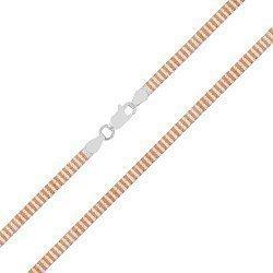 Серебряная цепь с позолотой 000027373