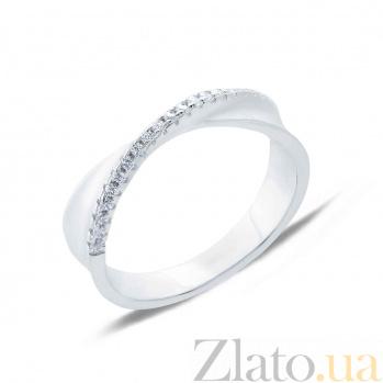 Серебряное кольцо с цирконами Мадлена AQA-XJR-0100