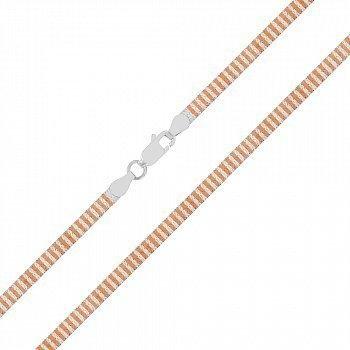 Срібний ланцюг з позолотою 000027373