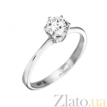 Кольцо в белом золоте Валери с бриллиантом 000079302