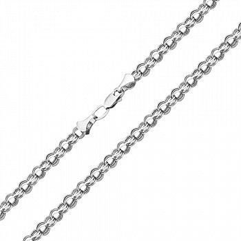 Серебряная цепь в плетении бисмарк 000117776, 3,5 мм