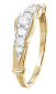 Позолоченное серебряное кольцо с фианитами Оюна 000025646