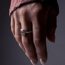 Серебряное кольцо Owl с чернением