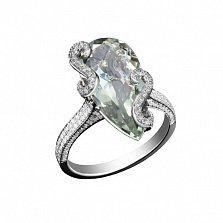 Золотое кольцо с аметистом и бриллиантами Джиневра