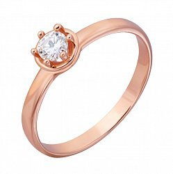 Кольцо из красного золота Эстель с бриллиантом