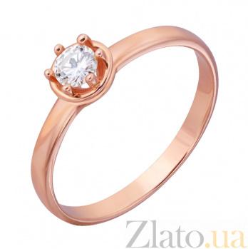 Кольцо из красного золота Эстель с бриллиантом EDM--КД7457