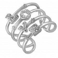 Золотое кольцо Любовь в белого цвете с бриллиантами