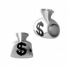 Серебряный шарм Богатство в форме денежного мешочка