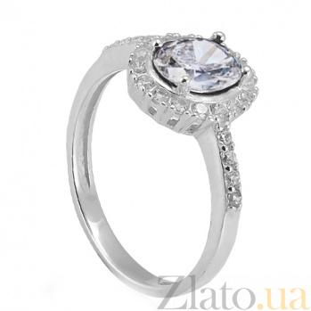 Серебряное кольцо Таисия с цирконием Таисия к/бел