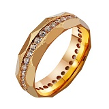 Золотое обручальное кольцо с фианитами Вечная нежность
