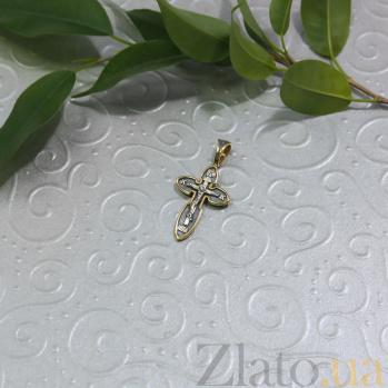 Серебряный крест Закон Божий с позолотой и чернением HUF--3477-ЗЧФ