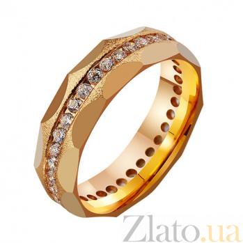 Золотое обручальное кольцо с фианитами Вечная нежность TRF--4121098
