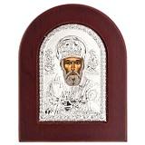 Икона Николай Чудотворец серебряная
