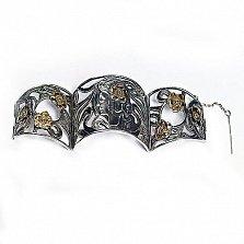 Серебряный браслет с позолотой Гестия